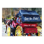 Horse n Buggy Save the Date Wedding Card