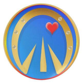 Horse 'n' Heart Melamine Plate