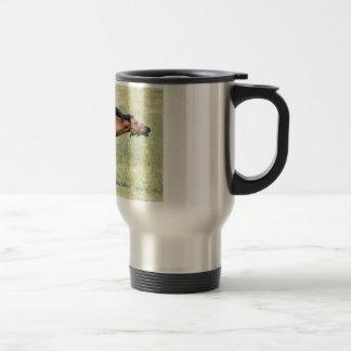 Horse neighing travel mug