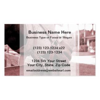horse nom nom red brown tone business card