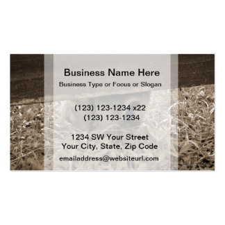 Horse nose grazing under fence toned business card template