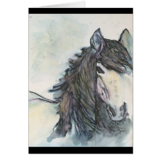 Horse note card