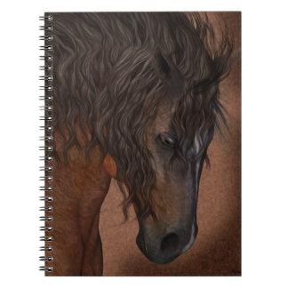 horse notebook, equine dreams spiral notebook