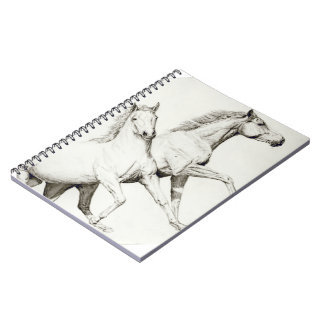 Horse notepad to Customize Spiral Notebook