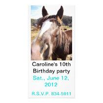 Horse nudge photo invite