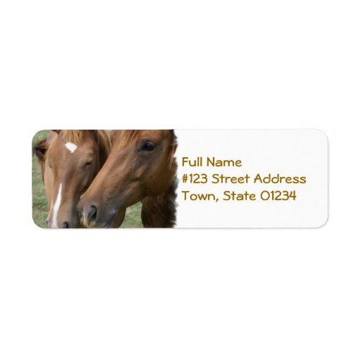 Horse Nuzzle Mailing Label Return Address Label