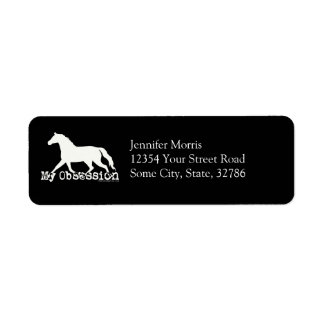 Horse Obsession Custom Return Address Label