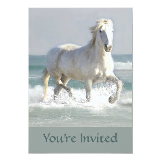 Horse Ocean Beauty Invitation