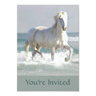 """Horse Ocean Beauty Invitation 5"""" X 7"""" Invitation Card"""