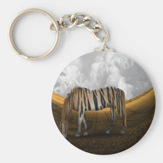 Horse of a different color basic round button keychain
