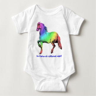 Horse of a Different Color Custom Baby Bodysuit