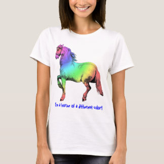Horse of a Different Color Custom Baby Doll Tee