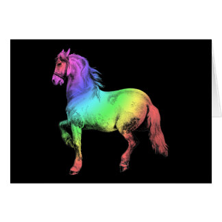 Horse of a Different Color Custom Card