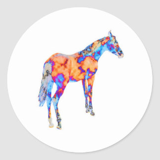 Horse of a Different Color Classic Round Sticker
