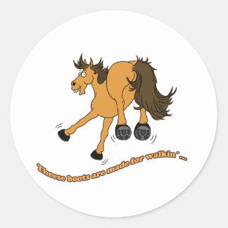 Horse of boat sticker