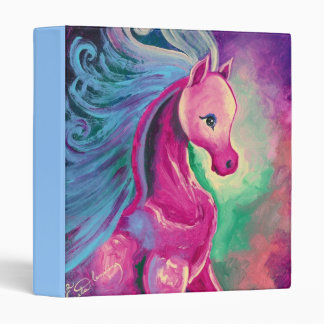Horse Of Bright Colours 3 Ring Binder