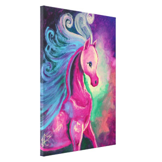 Horse Of Bright Colours Canvas Print
