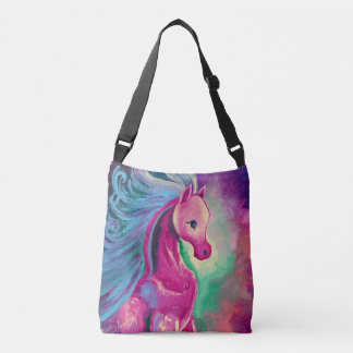 Horse Of Bright Colours Crossbody Bag