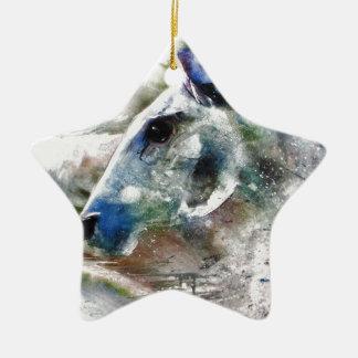 Horse of Color animal art Ceramic Ornament