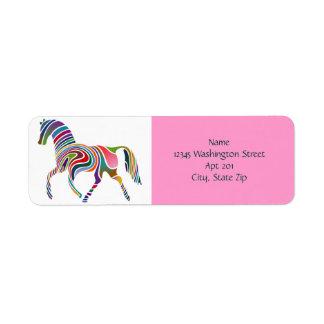 Horse of Many Colors Custom Background Color Custom Return Address Labels
