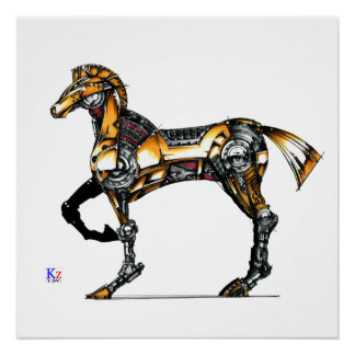 "Horse of opus number 20131227000c ""machine"" poster"
