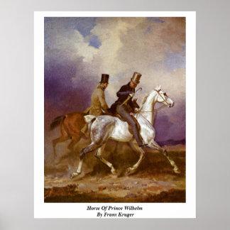 Horse Of Prince Wilhelm By Franz Kruger Print