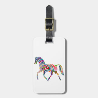 Horse of rainbow bag tag