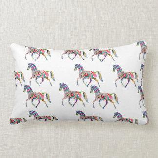 Horse of rainbow lumbar pillow