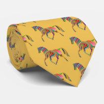 Horse of rainbow neck tie
