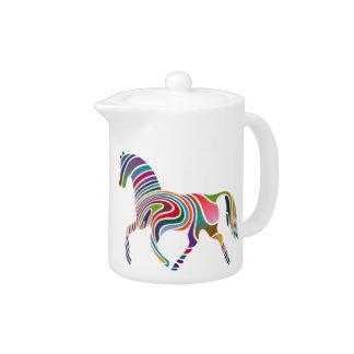 Horse of rainbow teapot