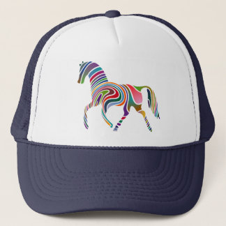 Horse of rainbow trucker hat