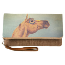 Horse oil painting clutch