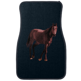 Horse on a car floor mat