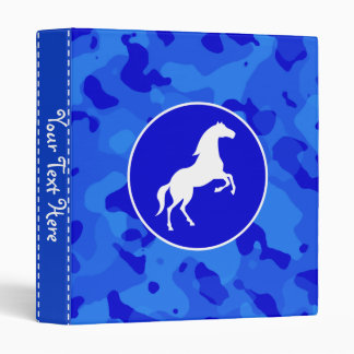 Horse on Blue Camo; Camouflage 3 Ring Binder