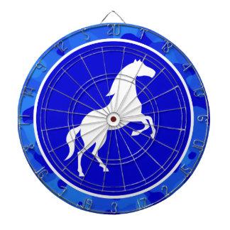 Horse on Blue Camo; Camouflage Dart Board
