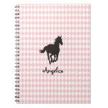 Horse on Diamond Pattern Template Notebook