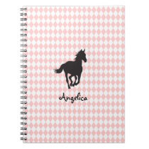 Horse on Diamond Pattern Template Notebook