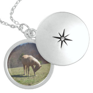 Horse on Hill Sterling Silver Necklace