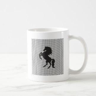Horse on Polka Dots Coffee Mug