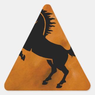 Horse on Terra Cotta Triangle Sticker