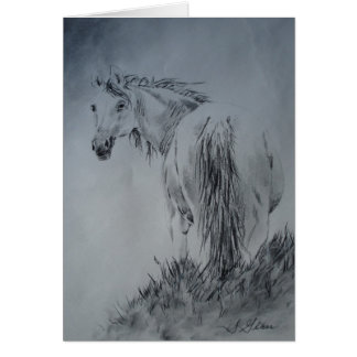 'Horse On the Hill' Card