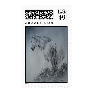 Horse On the Hill Stamp