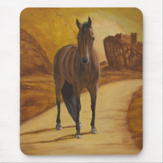 Horse On The Road Mousepad