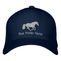 Horse or pony riders embroidered baseball cap
