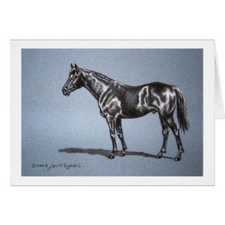 Horse Original Art Blank Greeting Card