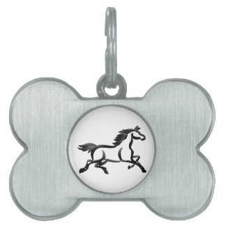 Horse Outline Pet Name Tag
