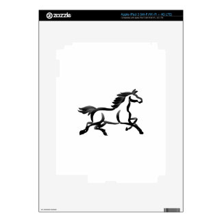 Horse Outline Skins For iPad 3