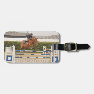 Horse Over Fence Luggage Tag