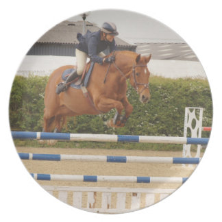 Horse Over Fence Plate