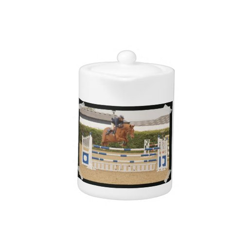 Horse Over Fence Teapot